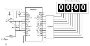 škoda felicia schéma zapojení digitálních hodin - PCF1179CT