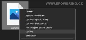 windows - změna výchozího editoru obrázků